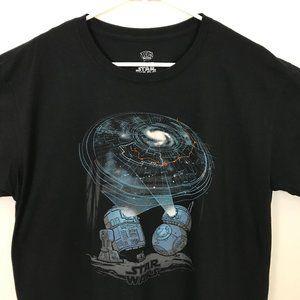 Star Wars Men Large Black 100% Cotton T-Shirt